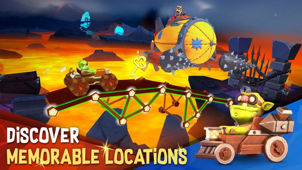 """دانلود Bridge Builder Adventure 1.0.5 - بازی پازل جالب """"ماجراجوییِ پل سازی"""" اندروید + مود"""