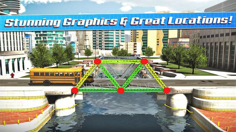 دانلود Bridge Construction Simulator 1.2.7 - بازی شبیه سازی پلسازی اندروید + مود