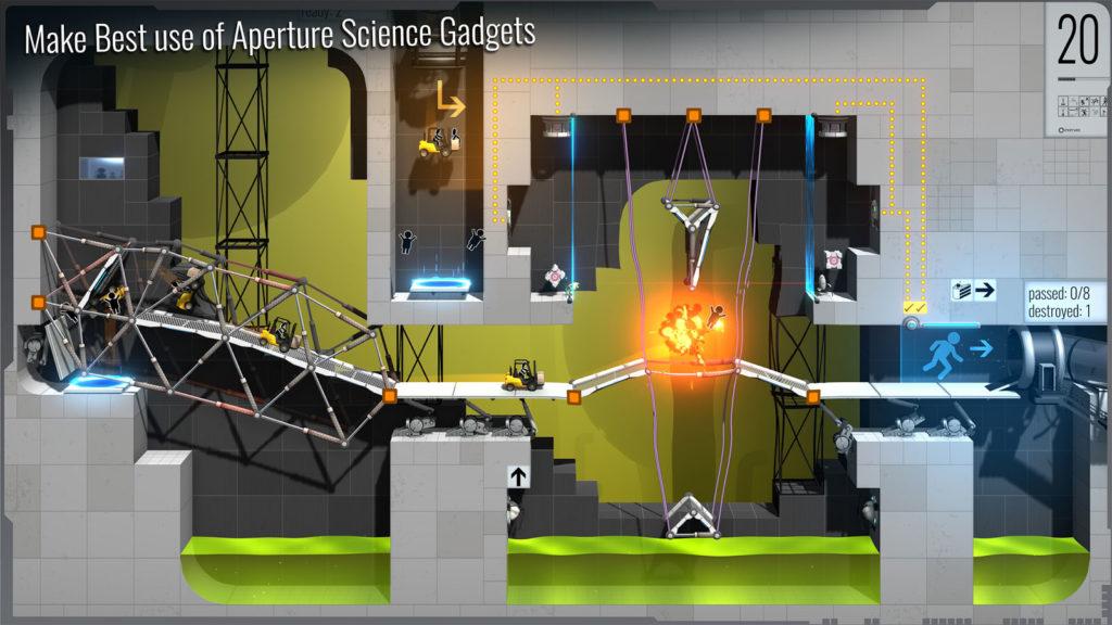 دانلود Bridge Constructor Portal 3.1 - بازی پل سازی فوق العاده اندروید + مود