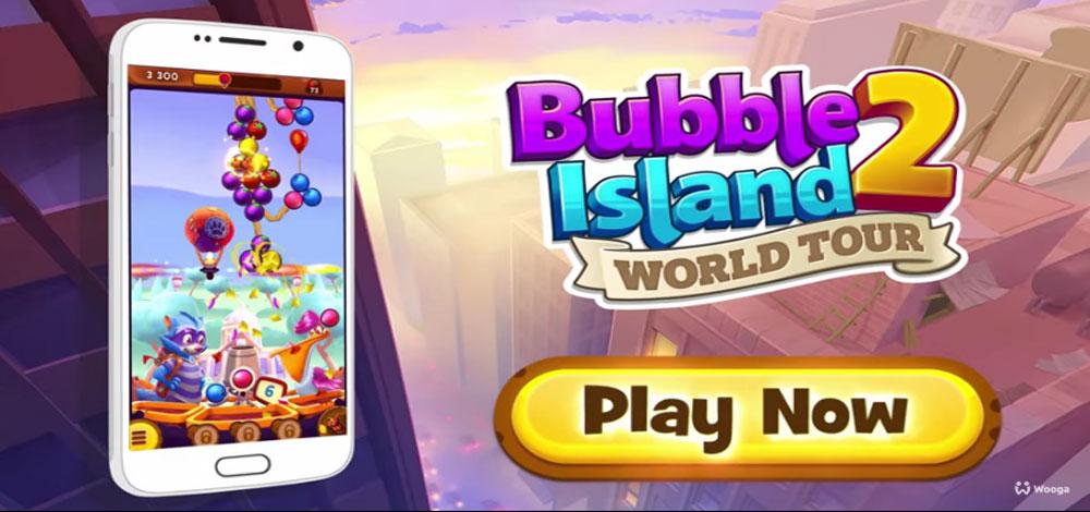 """دانلود Bubble Island 2: World Tour - بازی پازل """"جزیره حباب 2"""" اندروید + مود"""