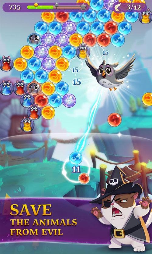 دانلود Bubble Witch 3 Saga 5.0.3 - بازی پازل جادوگر حباب ها 3 اندروید + مود