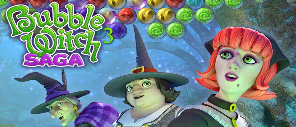 دانلود Bubble Witch 3 Saga - بازی پازل جادوگر حباب ها 3 اندروید + مود
