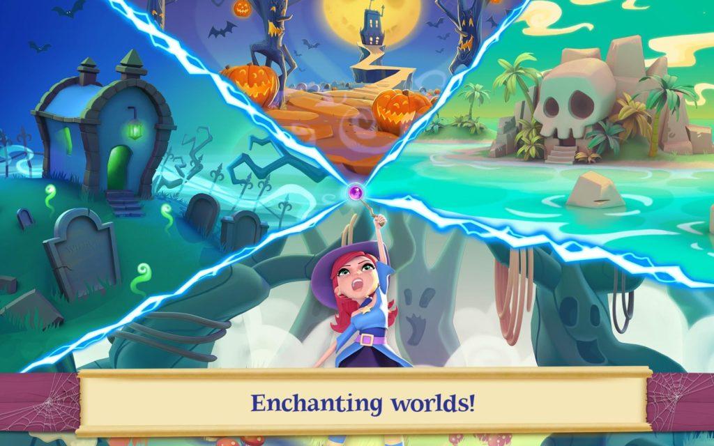 دانلود Bubble Witch 2 Saga 1.104.0.1 - بازی حباب جادوگر 2 اندروید + مود