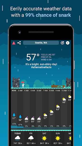 دانلود CARROT Weather Premium 1.0.4 - هواشناس قدرتمند و بی ادب اندروید!