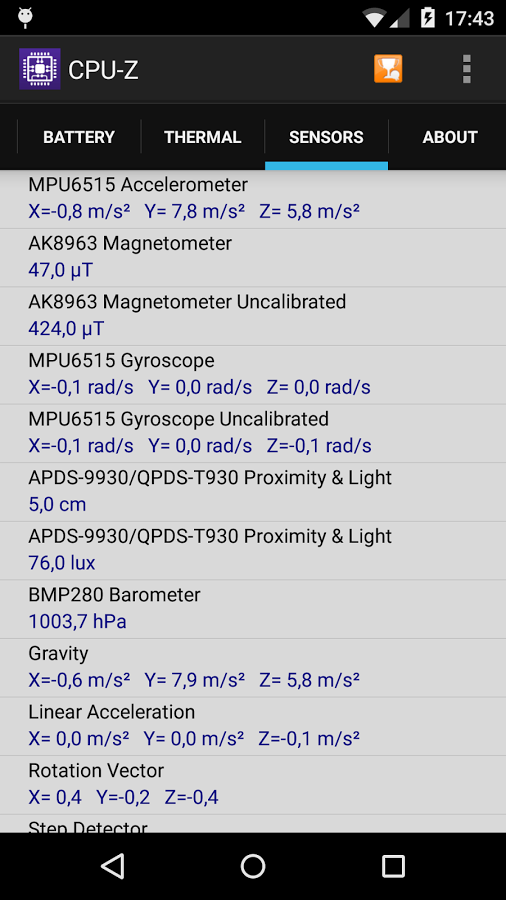 دانلود CPU-Z Premium 1.26 - شناسایی سخت افزار گوشی ها اندروید + مود