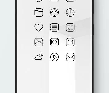 Caelus Black Icon Pack - Black Linear Icons-2