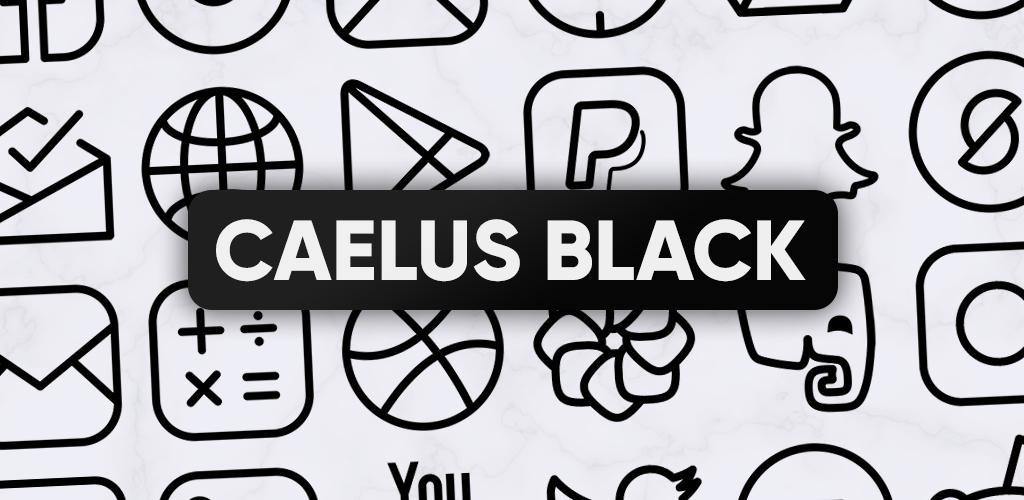 Caelus Black Icon Pack - Black Linear Icons
