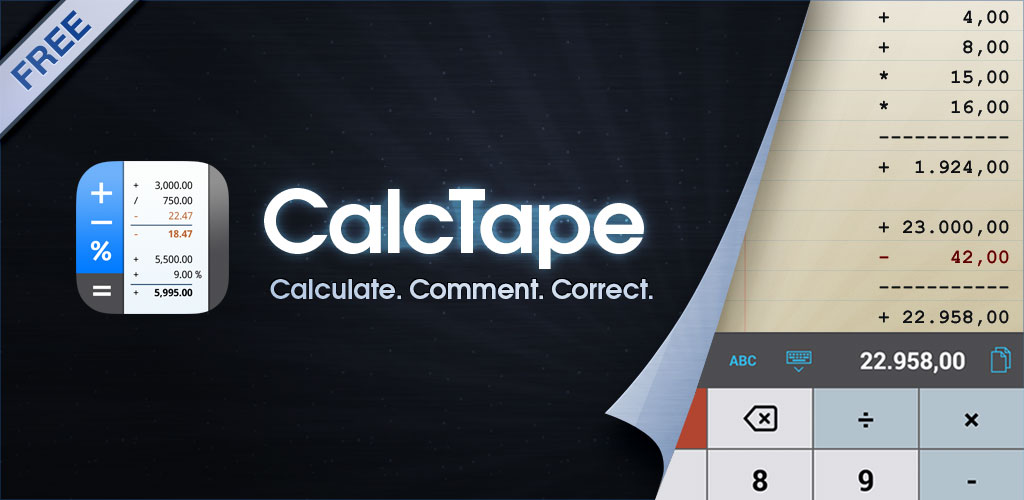 CalcTape Smart Calculator
