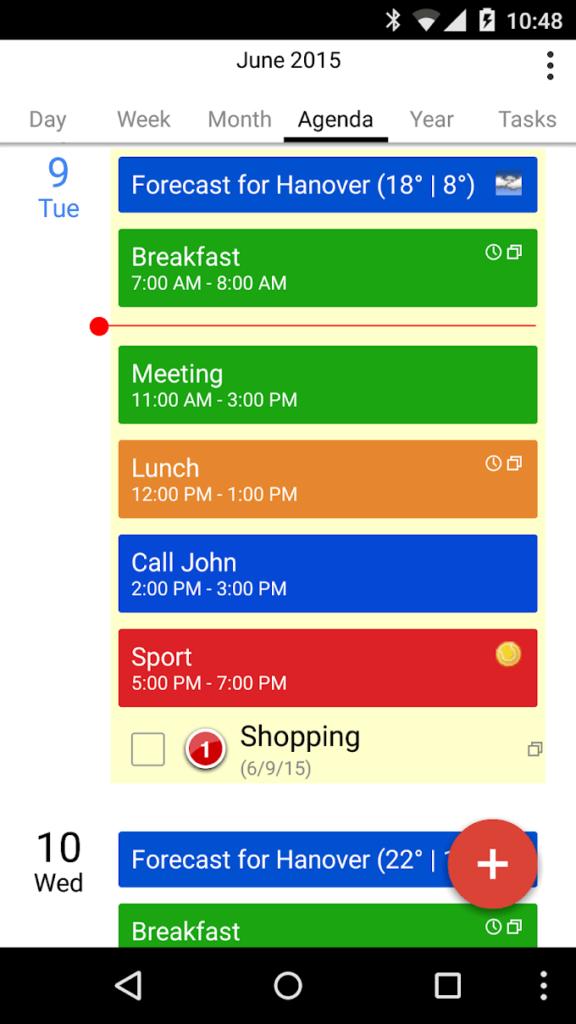 دانلود CalenGoo - Calendar and Tasks 1.0.178 B1174 - نرم افزار قدرتمند کامل کننده تقویم اندروید!