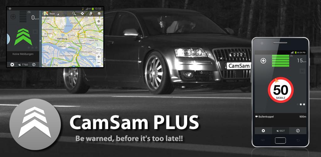 CamSam PLUS دانلود CamSam PLUS 3.0.3 – نقشه دوربین های کنترل سرعت آندروید