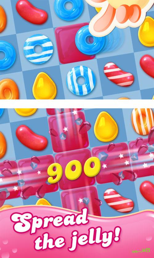 دانلود Candy Crush Jelly Saga 2.11.7 - بازی حذف آب نبات ژله ای اندروید + مود