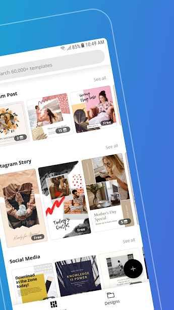 دانلود Canva: Graphic Design & Logo, Flyer, Poster maker Premium 2.34.0 - برنامه قدرتمند ساخت طرح ها گرافیکی مخصوص اندروید!