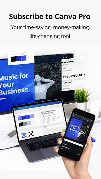 دانلود Canva: Graphic Design & Logo, Flyer, Poster maker Premium 2.32.1 - برنامه قدرتمند ساخت طرح ها گرافیکی مخصوص اندروید!
