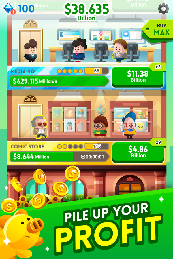 دانلود Cash, Inc. Fame & Fortune Game 2.1.8.3.0 - بازی جالب شرکت آقای پولدار اندروید + مود