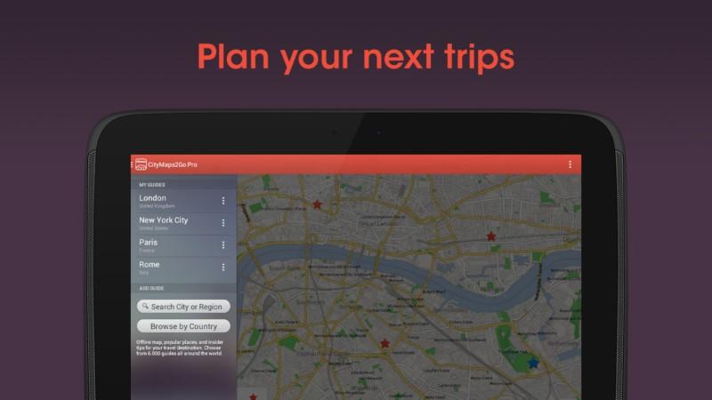 دانلود City Maps 2Go Pro Offline Maps 11.4.1 - نقشه آفلاین کامل جهان اندروید