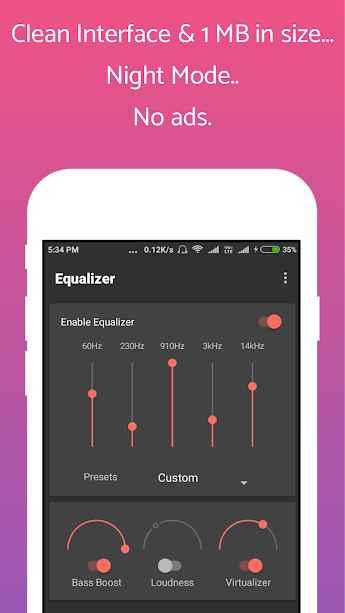 دانلود Clean Equalizer & Bass Booster Pro For headphones 0.1.0 - برنامه اکولایزر پر امکانات و حرفه ای اندروید !