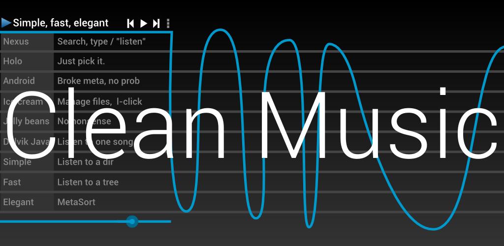 Clean Music Player