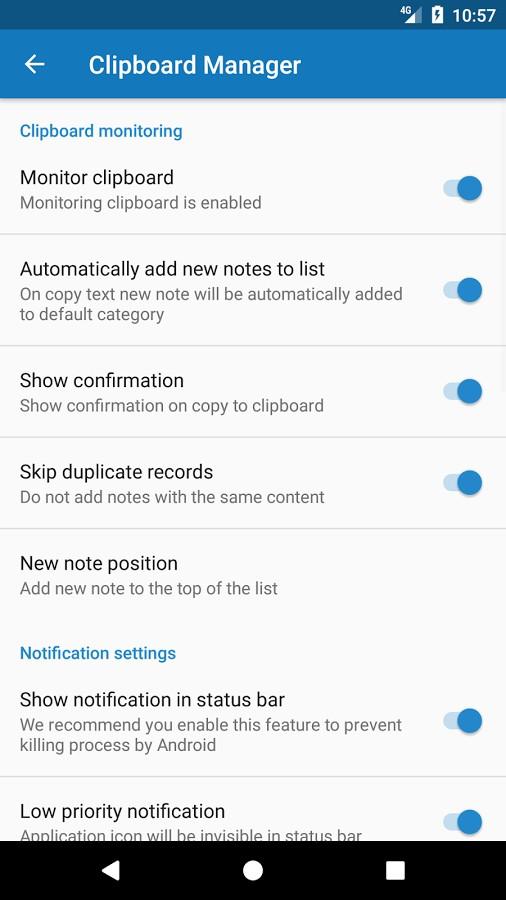 دانلود Clipboard Manager Pro 2.5.3 - برنامه مدیریت کلیپ بورد اندروید