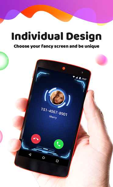 دانلود Color Phone Flash - Call Screen Theme 1.3.7 - برنامه تم گرافیکی تماس مخصوص اندروید