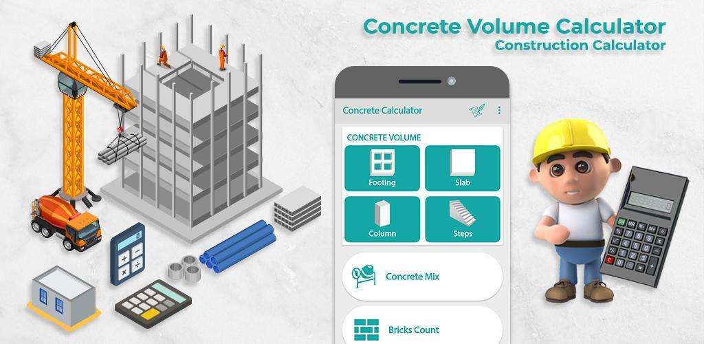 Concrete Volume Calculator–Construction Calculator Full