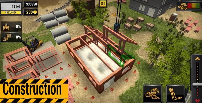 دانلود Construction Machines 2016 1.11 - بازی شبیه ساز ساخت و ساز اندروید + مود