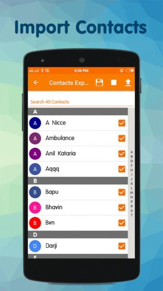 دانلود Contacts Backup & Restore PRO 3.3 - پشتیبان گیری از مخاطبین اندروید