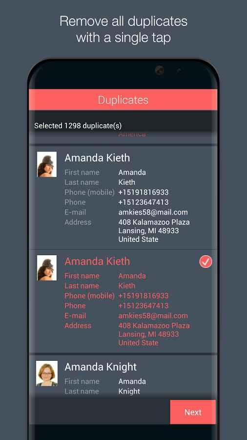 دانلود Contacts Optimizer Pro 6.1.4 - مدیریت و بهینه سازی مخاطبین اندروید