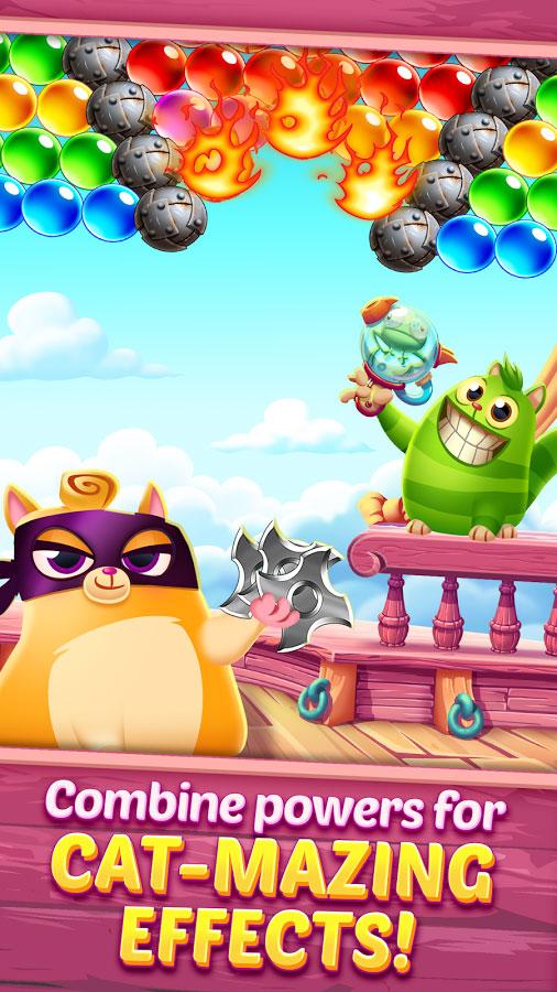 دانلود Cookie Cats Pop 1.23.7 - بازی پازل گربه های کلوچه خور اندروید + مود