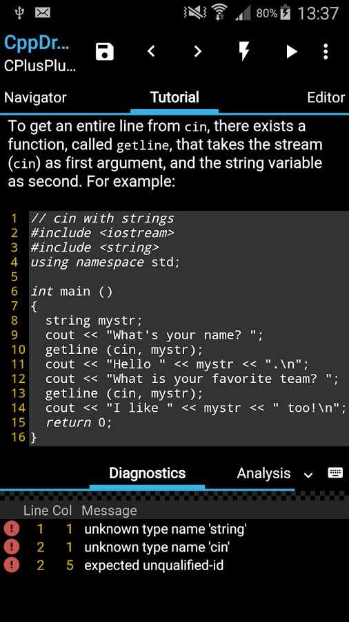 دانلود CppDroid - C/C++ IDE Premium 3.3.3 - برنامه یادگیری کدنویسی اندروید!