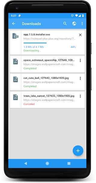 دانلود DOWNLOAD MANAGER Premium 5.0.0 - دانلود منیجر ساده و قدرتمند اندروید !