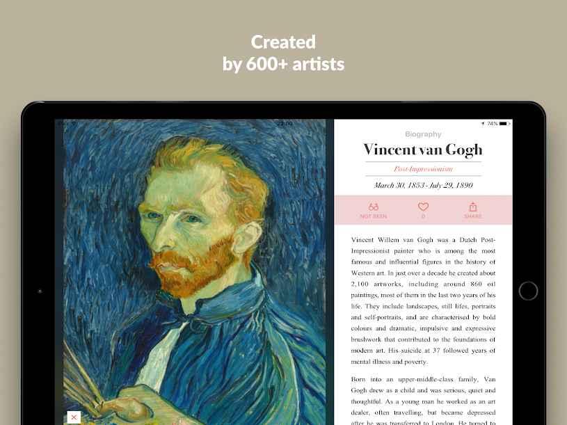 دانلود DailyArt - Your Daily Dose of Art History Premium 2.1.1 - برنامه تاریخچه آثار هنری و هنرمندان مخصوص اندروید !