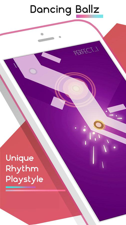 دانلود Dancing Ballz: Music Line 1.6.5 - بازی موزیکال سخت اندروید + مود