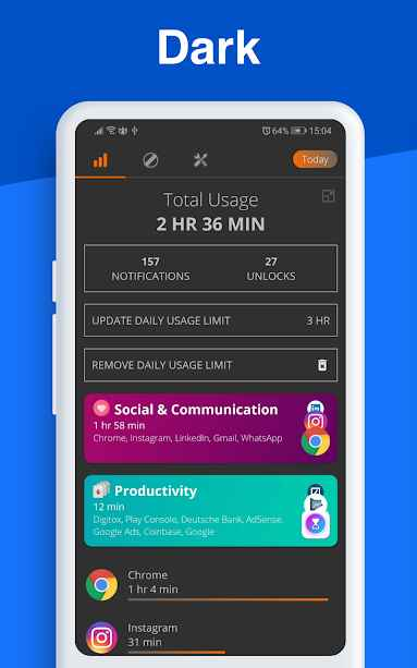 دانلود Digitox : Digital Wellbeing - Screen Time 3.2.0 - برنامه بهبود سلامت دیجیتال مخصوص اندروید