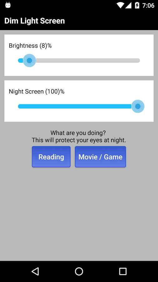 دانلود Dim Night Mode Screen - Night Mode Pro 4.4 - برنامه فیلتر نور آبی نمایشگر اندروید !