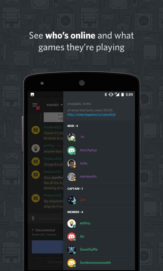 دانلود Discord - Chat for Gamers 6.7.4 - برنامه چت اختصاصی گیمر ها اندروید + بتا