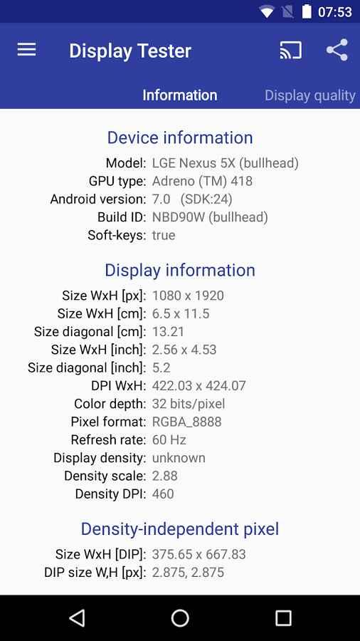 دانلود Display Tester Full 4.10 - برنامه تست صفحه نمایش اندروید !