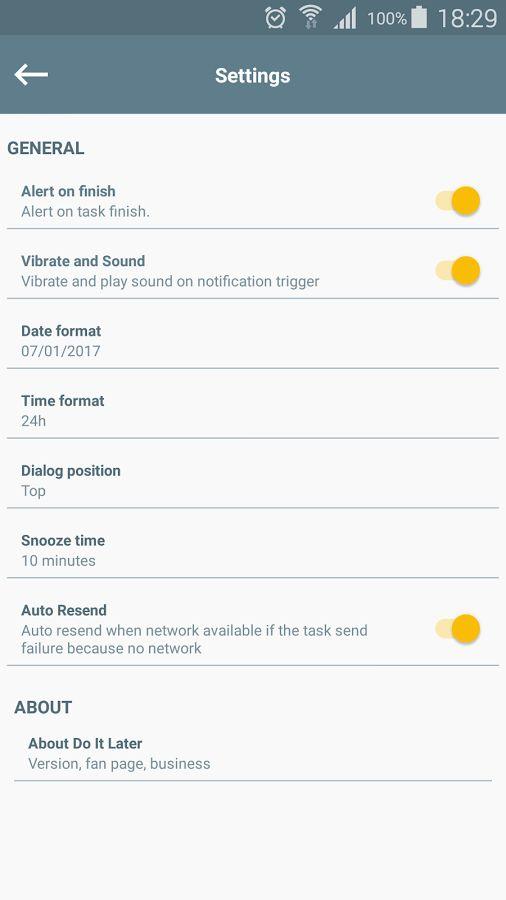 دانلود Do It Later Premium 2.3.6 - برنامه زمان بندی فعالیت ها اندروید!