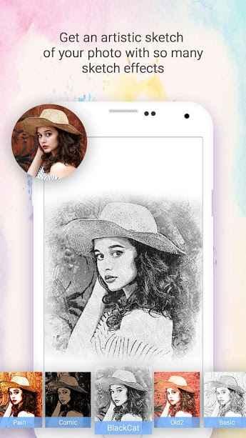 دانلود Droid Sketch Photo Maker Premium 1.0.23 - برنامه اندروید، تبدیل تصاویر به نقاشی و طراحی ها زیبا