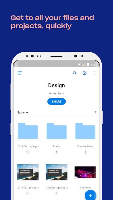 دانلود Dropbox 165.1.2 - برنامه رسمی میزبانی وب دراپ باکس اندروید + بتا + Paper