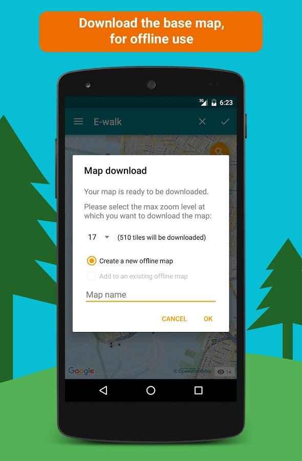 دانلود E-walk - Offline maps 1.0.50 - مسیر یاب و نقشه آفلاین اندروید !