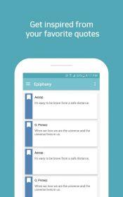 Epiphany - quotes lock screen