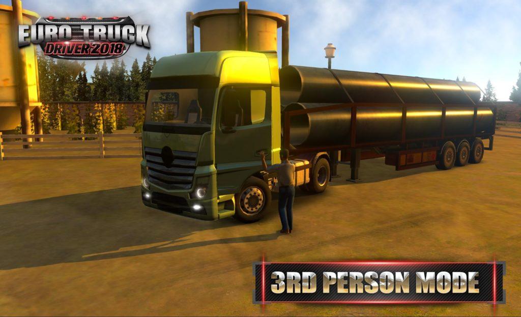 دانلود Euro Truck Driver 2018 2.12 - بازی شبیه سازی راننده کامیون 2018 اندروید + مود + دیتا