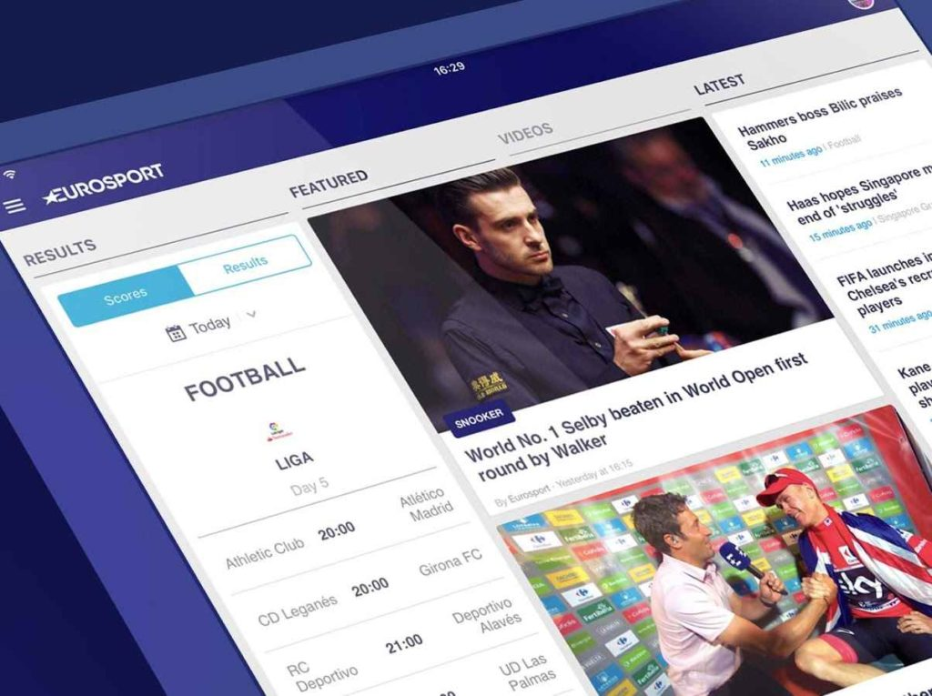 دانلود Eurosport 5.20.1 - برنامه اخبار ورزشی یورو اسپورت اندروید + مود