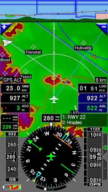 دانلود FLY is FUN Aviation Navigation Full 24.21 - برنامه ساده سازی پرواز برای خلبان ها اندروید