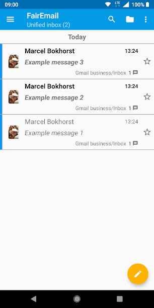 دانلود FairEmail Pro 1.551 - برنامه ساده مدیریت ایمیل مخصوص اندروید
