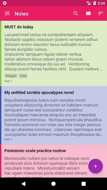 دانلود FairNote Notepad Pro 1.0.95 - دفترچه یادداشت دیجیتال امن اندروید !