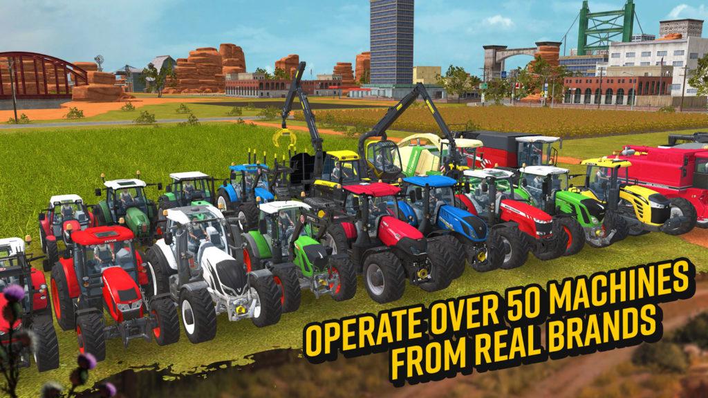 دانلود Farming Simulator 18 1.4.0.6 - بازی شبیه ساز کشاورزی 2018 اندروید + مود + دیتا