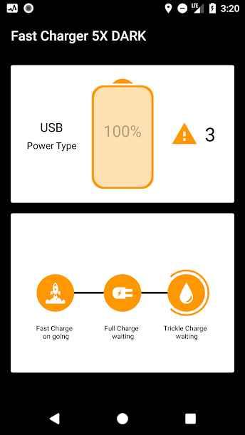 دانلود Fast Charger 5x - Dark 1.0 - شارژ سریع و پایدار باتری اندروید !