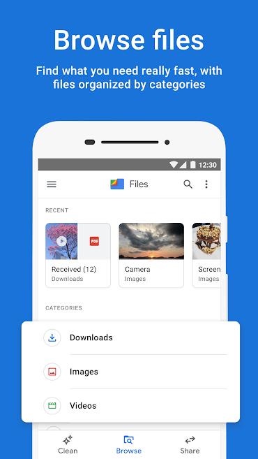 دانلود Files Go : Free up space on your phone 1.0.278928638 - فایل منیجر پر امکانات گوگل اندروید !