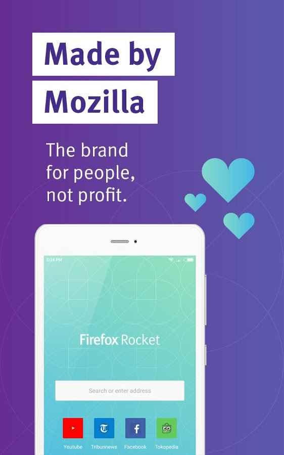 دانلود Firefox Rocket Browser 3.4.1 - مرورگر سریع و کم حجم